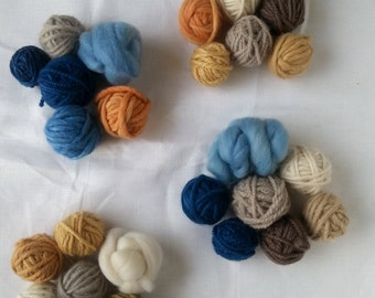 Naturally dyed yarn bundle weaving