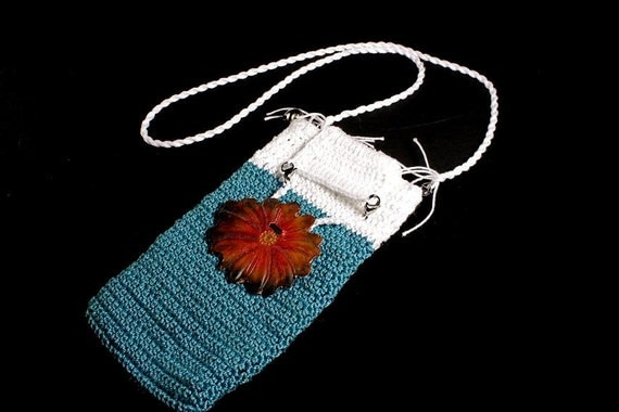 Pouch, Boho Chic, Phone Case, Samsung, Galaxy s6, Hand Tooled Leather Button