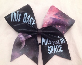 This Base Puts You In Space Cheer Bow