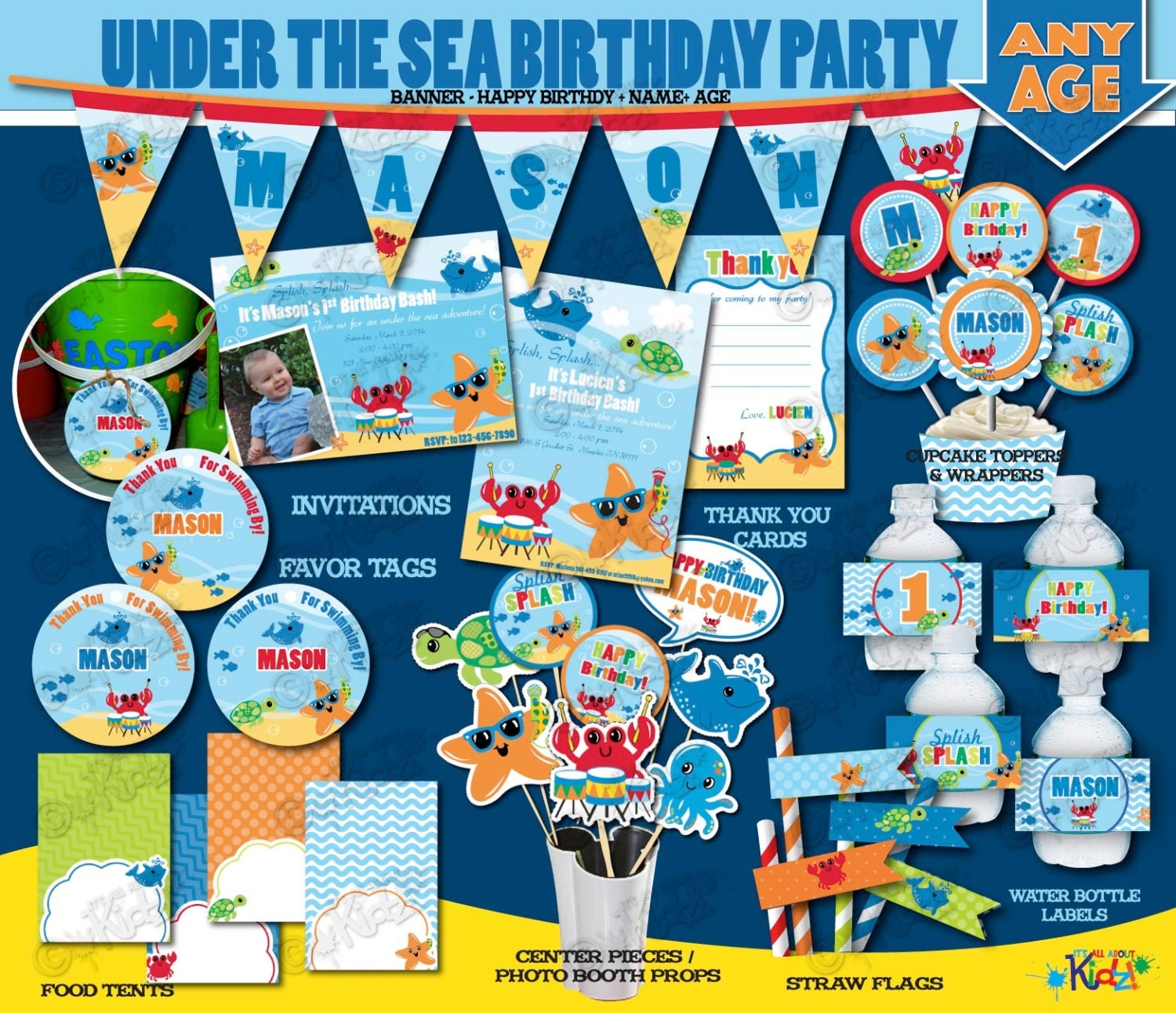 Printable Under The Sea Party Birthday Party Package First