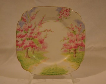 "Royal Albert Blossom Time 6 1/4"" Square Bread and Butter Plate"