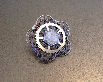 Punk by numbers and Steampunk Flower brooch