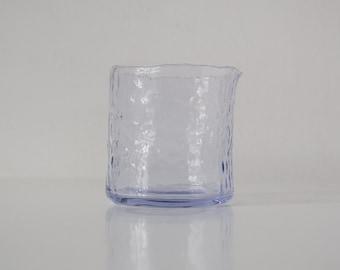 Organic glass flower vase, mid century modern, vintage design