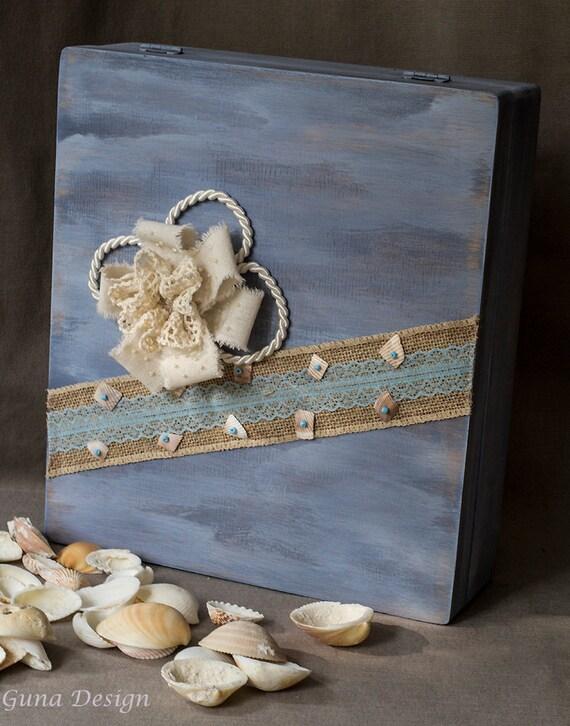 Beach Wedding Vintage Quest Card Box