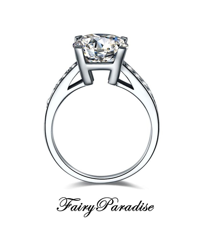 1 carat solitaire engagement promise rings 4 prong 1 ct