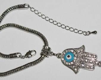 Hamsa Hand evil eye protection bracelet
