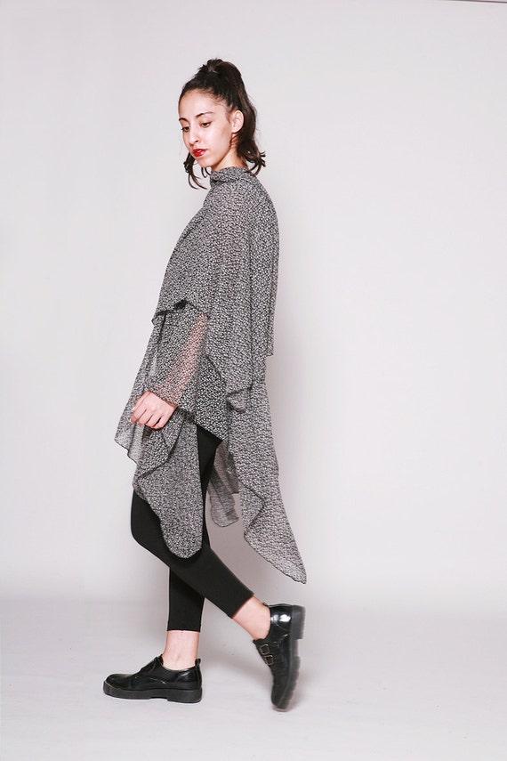 Kimono Scarf Knitting Pattern : Wraps Shawls Long Shawl Kimono Shawl Black and by dragonflyhm