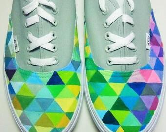 Custom triangular kaleidoscope shoes
