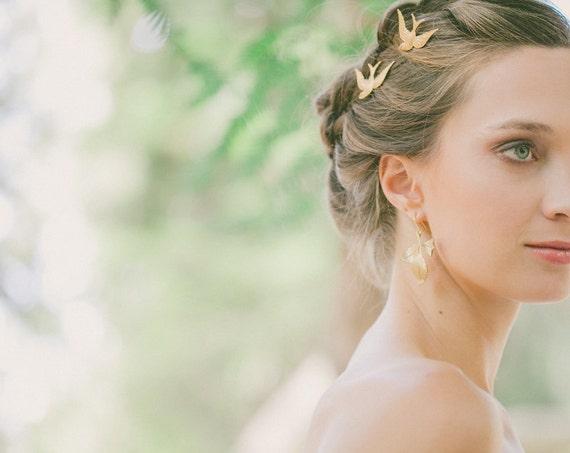 Gold Wedding Hair Clips Wedding Hair Pins Wedding Bobby Pins Wedding Bridal Accessories Autumn Fall Weddings Rustic Bride Bridesmaids Gifts