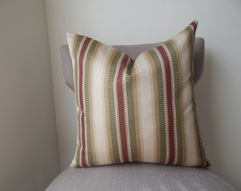 Stripped 18x18,19x19,20x20, Pillow Cover ,throw Pillow,Decorative Pillow,same fabric on both sides