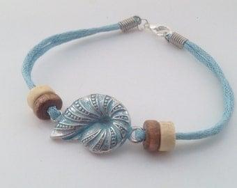 Shell bracelet Mermaid Bracelet Bohemian beach bracelet nautical bracelet cord bracelet geekery bracelet boho bracelet