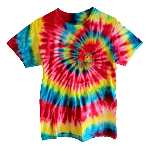 tie dye t shirt primary center spiral red yellow blue. Black Bedroom Furniture Sets. Home Design Ideas