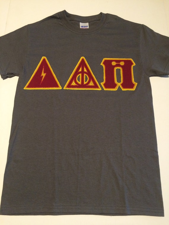 items similar to custom greek letter shirt (harry potter) (delta