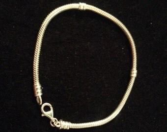 Vintage Sterling Silver Cord Bracelet