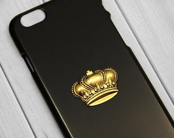 Crown Phone Case iPhone 6 Plus Gold iPhone 5 Cover Cell Phone King Crown Bling Vintage Gold iPhone 5c Galaxy S5 S4 S3 iPhone 4 4s Crown
