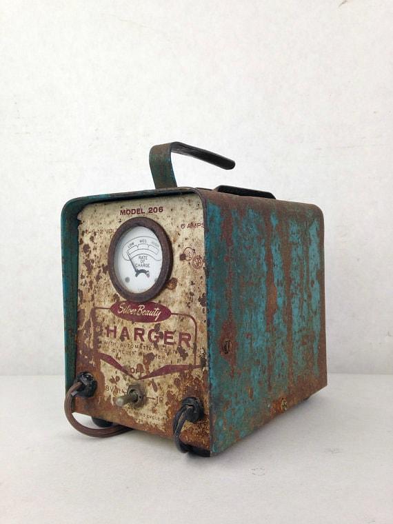 vintage 1950s automotive battery charger silver beauty model. Black Bedroom Furniture Sets. Home Design Ideas