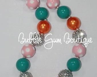 Fish Pendant Bubble Gum Necklace