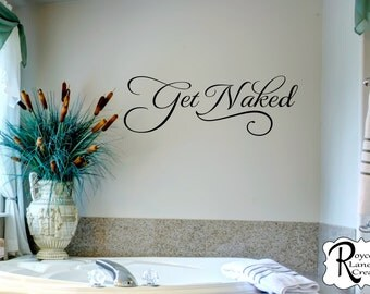 Get Naked 3 Bathroom Wall Decal