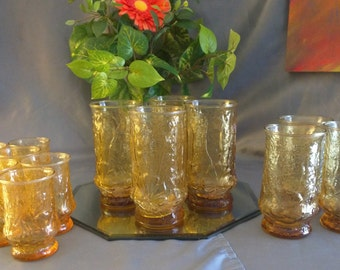 Set of Amber Glasses