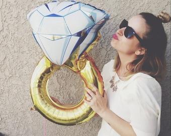 Engagement Ring Balloon - Bridal Shower Decor - Engagement Party Decor - Wedding Balloons - Bachelorette Party Decor - Diamond Balloon