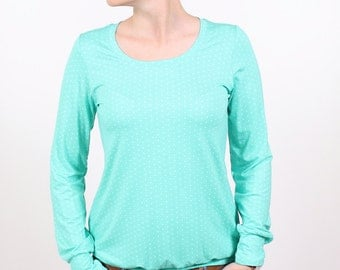 """casual shirt """"Roswitha"""" / / Mint green dots"""