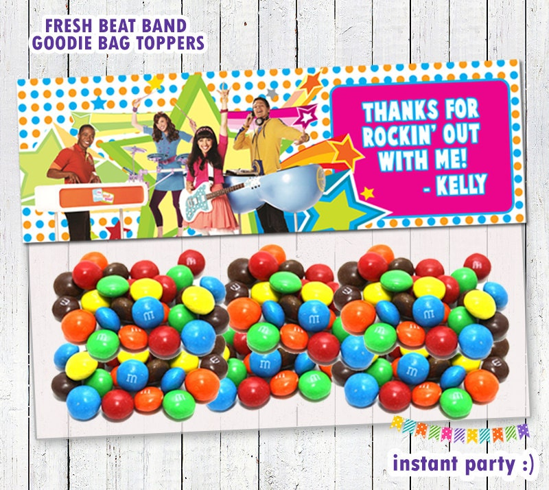 Fresh Beat Band Goodie Bag Topper / Favor Bags By Instantparty
