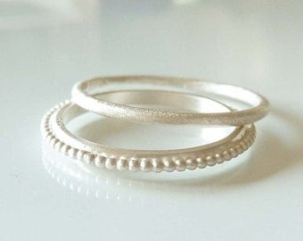 Silver Ring Basic, Stackable ring - handmade by SILVERLOUNGE
