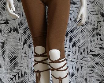 YOGA LEGGINGS TIGHTS pixie gypsy steampunk boho knee pants