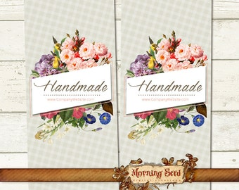 Soap label - Customizable printable wrapper labels - 2.5 x 11 inch - Candle and Soap label template