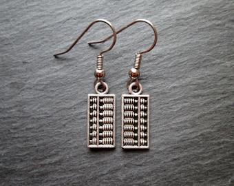 Silver Abacus Charm Earrings