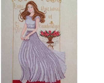 Kate Duchess of Cambridge - PDF Modern Counted Cross Stitch Chart Pattern Instant Download