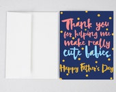 Cute Babies Card, Funny Father's Day Card, Husband Father's Day Card, Father's Day Card, Greeting Card, Father's Day,  Husband Card, Funny