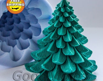 Christmas tree soap mold silicone molds mold for soap mold christmas mold silicone mold new year mold free shipping