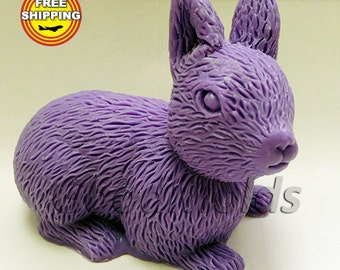 Rabbit 3d soap mold silicone molds mold for soap mold silicone mold animals mold free shipping