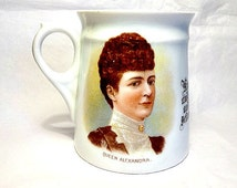 Queen Alexandra, King Edward VII, Small Antique Cup, British Royal Family, Royal Commemorative Cup, King and Queen of England, English Royal