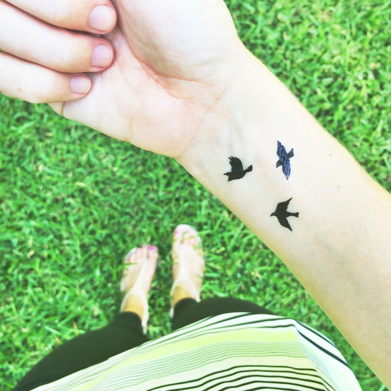 tiny bird tattoos flying birds temporary tattoo valentines day