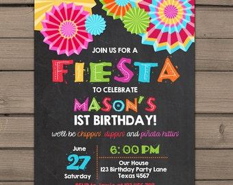 Fiesta Invitation Fiesta birthday party Fiesta birthday invitation Mexican party Fiesta party Mexican birthday Digital PRINTABLE ANY AGE