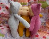 "Kitten * handmade doll * 8"" waldorf * OOAK * silver grey"