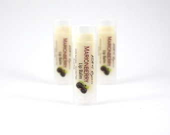 MARIONBERRY Lip Balm - 100% Natural, Organic Ingredients, Gluten Free, Long Lasting, Berry Lip Balm