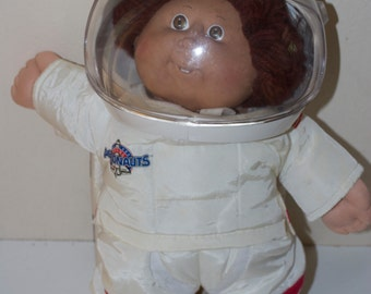 Cabbage Patch Kid Vintage Astronaut Doll Brown Hair Eyes Teeth 1986