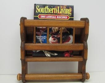 Rustic Wooden Towel Rack with Shelf  ~ Wooden Wall Towel Shelf ~ Kitchen Shelf ~ Farmhouse Décor ~ Cabin Bathroom ~ Country Cottage Shelf
