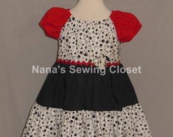 101 Dalmatians/Cruella DeVil inspired dress