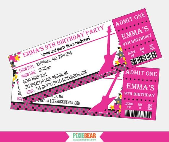 Rock star birthday invitation rockstar party invitation rock il570xn stopboris Choice Image