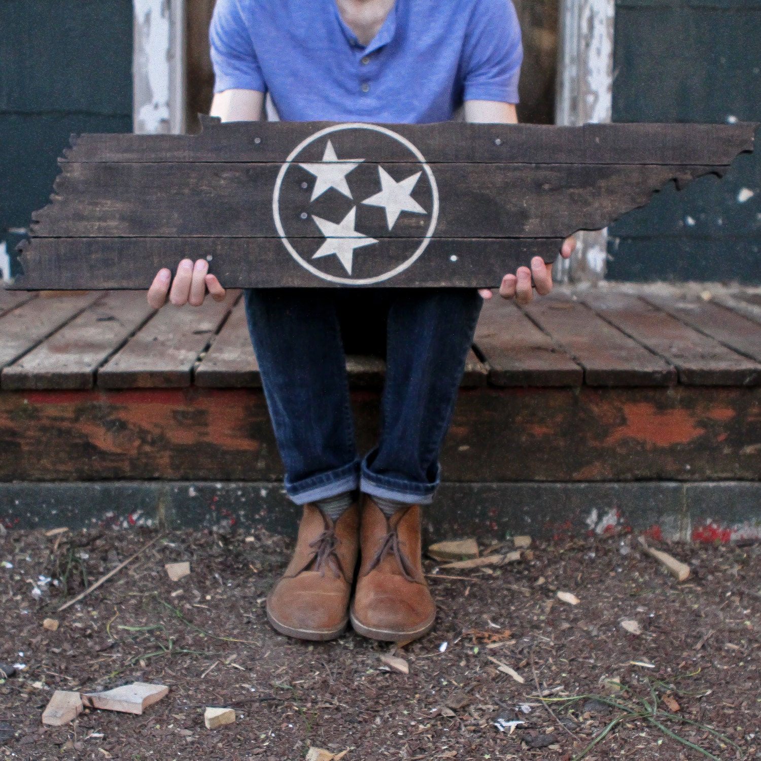 🔎zoom - Rustic Tennessee Tristar Made From Reclaimed Wood