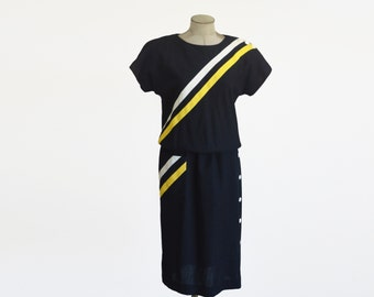 70 S Vintage Lane Bryant Maxi Dress Black And By
