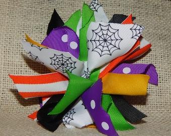 Halloween Hairbow, Halloween Puff Hair Bow, Spider Web Hair Bow, Halloween Colors, Puff Hair Bow, Halloween Hair Bow, Spike Hair Bow, Spikes