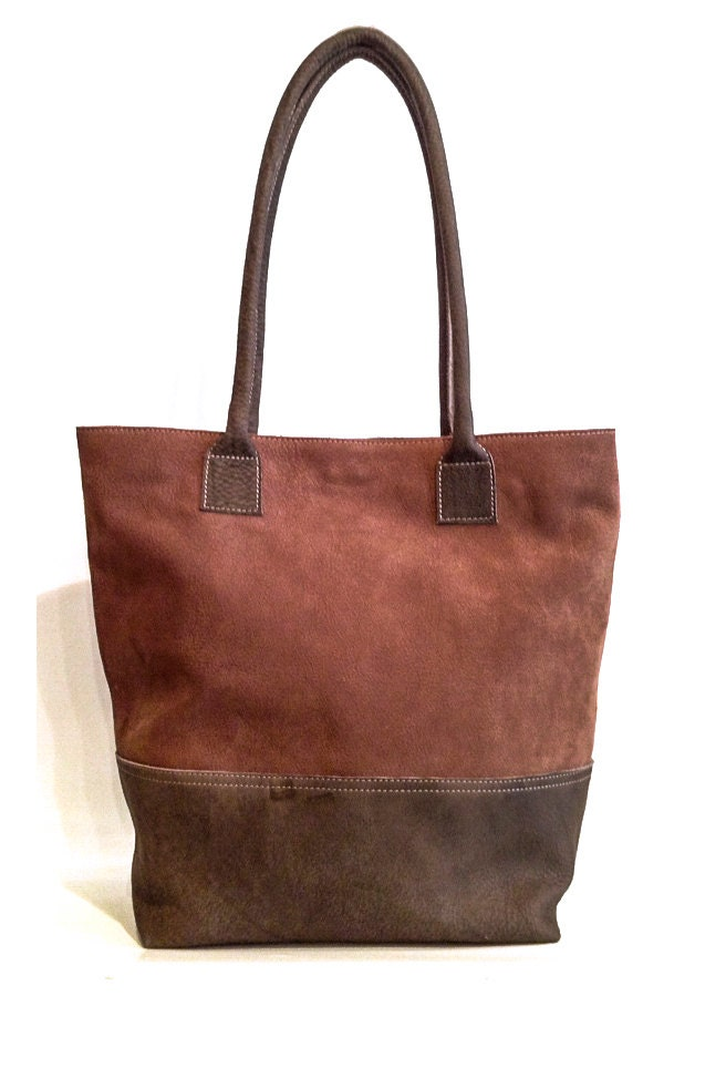 sale brown leather tote brown leather handbag for