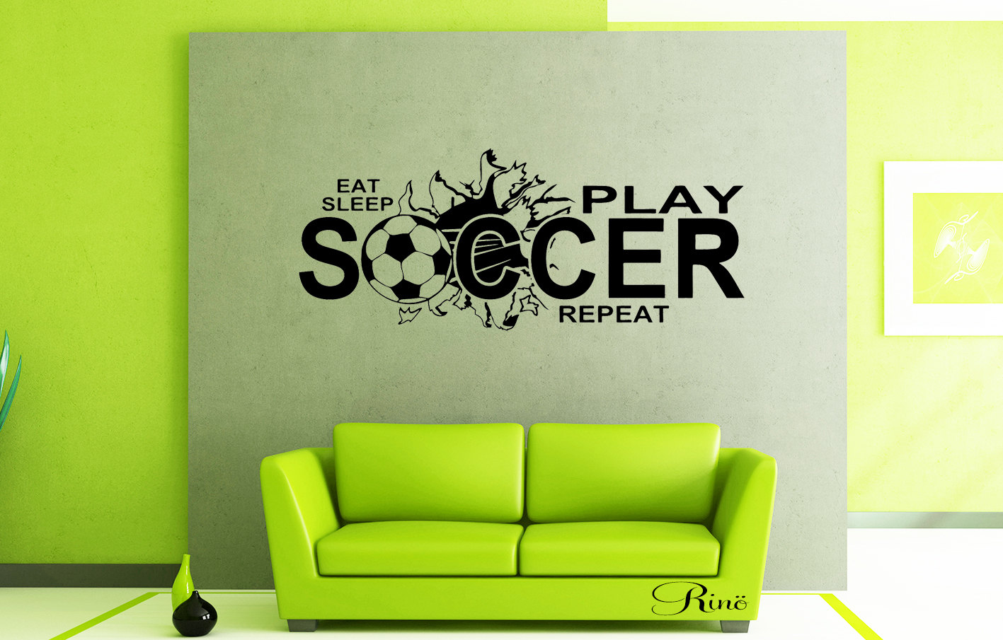 Eat Sleep Play Soccer Wall Art Vinyl Decal Soccer Decals