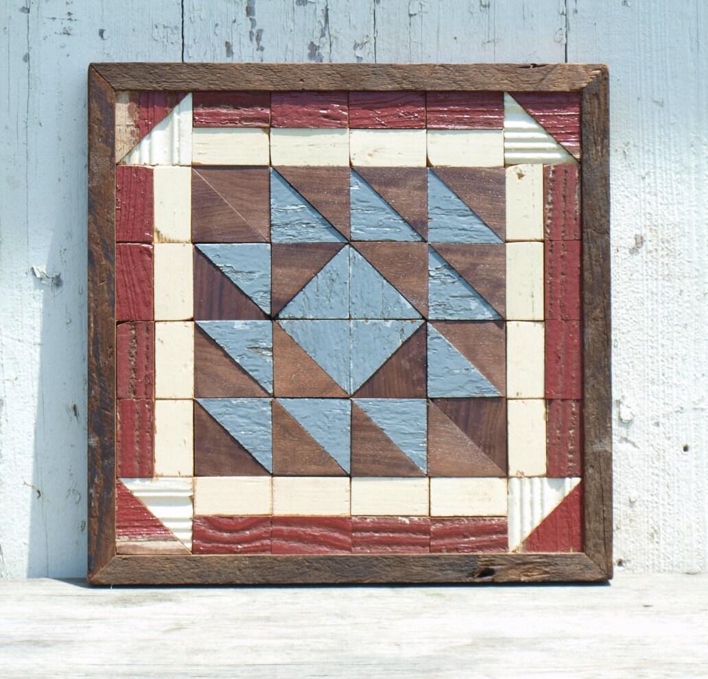 Patriotic Barn Quilt Americana Wall Art Rustic Decor