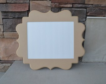 Unfinished 16x20 whimsical picture frame...handmade